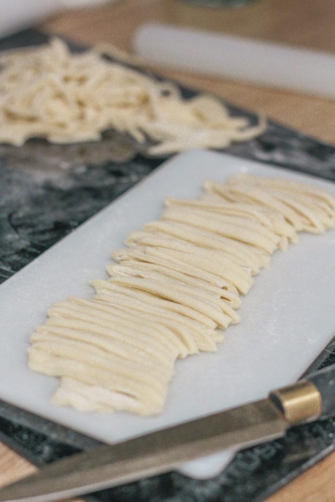 sliced fresh pasta