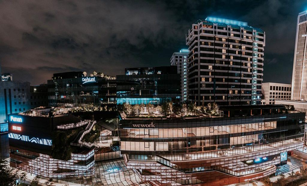night shot of funan mall